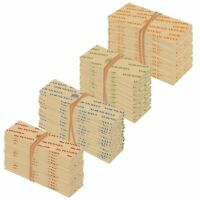 500 COIN ROLL WRAPPERS FOR U.S. COINS - 125 EACH OF PENNY, NICKEL, DIME
