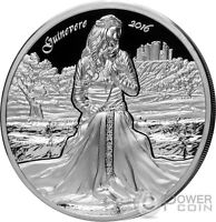GUINEVERE CAMELOT KNIGHTS ROUND TABLE 2 OZ SILVER COIN 10$ C