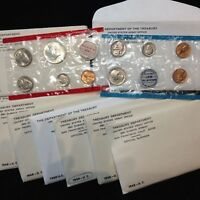 9 SET LOT OF 1968 PDS MINT UNCIRCULATED SETS W/SILVER