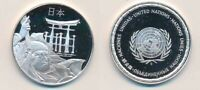 JAPAN: 12.9G 925 SILVER PROOF MEDAL  32MM  UN COUNTRIES