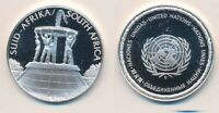 SOUTH AFRICA: 12.9G 925 SILVER PROOF MEDAL  32MM  UN COUNTRI