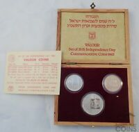 1983 BANK OF ISRAEL SET OF 35TH INDEPENDENCE DAY GOLD VALOUR