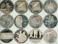 LOT OF 12: 1986 2013 ASSORTED MODERN COMMEMORATIVE SILVER DO