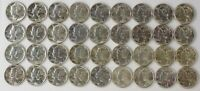 UNCIRCULATED LOT OF 36 MERCURY DIME COLLECTION 3209