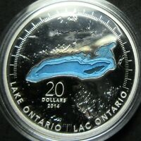 2014 CANADA THE GREAT LAKES: LAKE ONTARIO 1 OUNCE .9999 FINE