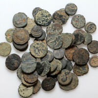 TOP LOT OF 50 LATE ROMAN BRONZE COINS  CLEAN AND PARTIAL CLE
