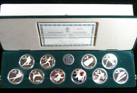 10 COINS   1985 1987 $20 PROOF ISSUES  1988 CALGARY GAMES