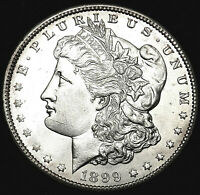 1899-O MORGAN SILVER DOLLAR BRILLIANT MINT STATE. CHOICE LUSTROUS UNCIRCULATED.