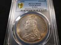 A95 GREAT BRITAIN 1890 CROWN S 3921 PCGS MS 62