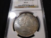 A197 GREAT BRITAIN 1818 LIX CROWN NGC MS 62