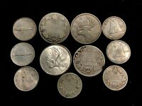 LOT OF  11  VINTAGE CANADIAN SILVER COINS