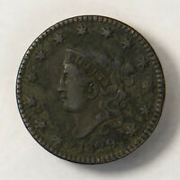 1829 CORONET HEAD 1C LARGE CENT  EARLY US COPPER LOTR127