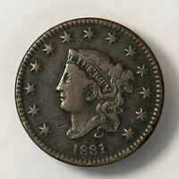 1831 CORONET HEAD 1C LARGE CENT  EARLY US COPPER LOTR128