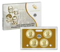 2015-S  US MINT 4 COIN PRESIDENTIAL  PROOF SET  W/ BOX & COA