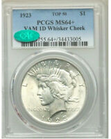 1923 WHISKER CHEEK TOP 50  PCGS MINT STATE 64