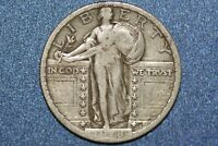 1918 S STANDING LIBERTY QUARTER DOLLAR SILVER 105709 US MINT  GENUINE KEY