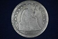 1841 SEATED LIBERTY DIME 10C - 90 SILVER
