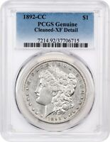 1892-CC $1 PCGS EXTRA FINE  DETAILS CLEANED - MORGAN SILVER DOLLAR