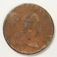 1794 FLOWING HAIR 1C LARGE CENT - HEAD OF 1794  EARLY US COIN LOTB957