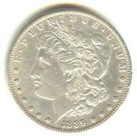 1889 CC MORGAN DOLLAR AU WHITE COIN NICE EYE APPEAL KEY DATE