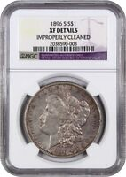 1896-S $1 NGC EXTRA FINE  DETAILS IMPROPERLY CLEANED MORGAN SILVER DOLLAR