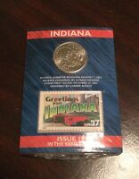 2002 SET OF 5 STATE QUARTERS GREETINGS FROM AMERICA CARDS
