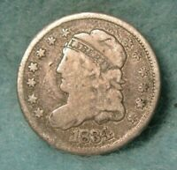 1834 CAPPED BUST SILVER HALF DIME VG  US COIN 3697