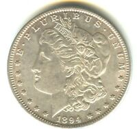 1894 P MORGAN DOLLAR AU    COUNTERSTAMPED KEY DATE PHILADELP