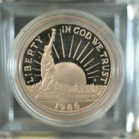 1986-S STATUE OF LIBERTY CENTENNIAL SILVER HALF DOLLAR COMMEMORATIVE COIN A-827