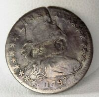 1797 DRAPED BUST SILVER HALF DIME  3412