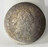 1805 DRAPED BUST SILVER DIME 3415