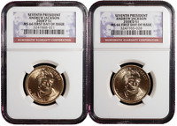 2008 P&D $1 7TH ANDREW JACKSON PRESIDENTIAL SET NGC MS66 FIR