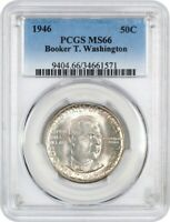 1946 BTW 50C PCGS MINT STATE 66 - SILVER CLASSIC COMMEMORATIVE