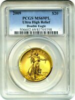 2009 ULTRA HIGH RELIEF $20 PCGS MINT STATE 69 PL -  POPULAR ISSUE
