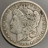1895 S MORGAN SILVER DOLLAR F  KEY DATE COIN - ONLY 400,00 MINTED