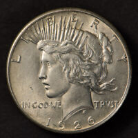 1926 $1 SILVER PEACE DOLLAR, BETTER DATE COIN - HIGH GRADE - LOTM899
