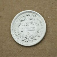 1857-O US SEATED LIBERTY DIME GEM BU CONDITION, BETTER DATE, LOW MINTAGE  A-871
