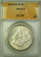 1891-S MORGAN SILVER DOLLAR $1 COIN ANACS AU-55 BETTER COIN