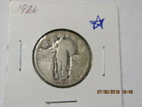 1926 SILVER STANDING LIBERTY QUARTER  U.S SHIPPING ONLY NO INTERNATIONAL SALES