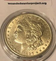 MAKE-ME-AN-OFFER  1897 S MORGAN SILVER DOLLAR CHOICE BU PROOF LIKE GEM