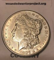 1897-S MORGAN SILVER DOLLAR - UNCIRCULATED BU - BETTER DATE