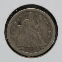 1854-O 10C SEATED LIBERTY DIME WITH ARROWS LOTN533