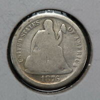 1876-S 10C SEATED LIBERTY DIME LOTN548