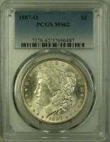 1887-O MORGAN SILVER DOLLAR $1 COIN PCGS MINT STATE 62 BETTER COIN 21