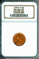 1942-S LINCOLN CENT NGCS MINT STATE 66 RD 1925167