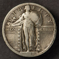 1918 25C STANDING LIBERTY QUARTER,  EARLY VF COIN LOTN681