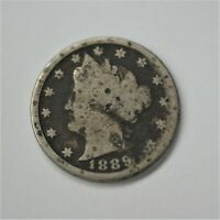 1889 US LIBERTY HEAD NICKEL FIVE CENT PIECE GOOD CONDITION V.2  A-1065