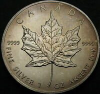 CANADA 5 DOLLARS 1990   SILVER   MAPLE LEAF   AUNC   3167