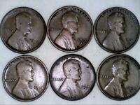 1910 S 1911 D 1913 S 1915 D 1916 D 1917 S LINCOLN WHEAT CENT