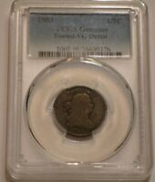 1803 DRAPED BUST HALF CENT PCGS VG DETAIL TOOLED STRONG DETA